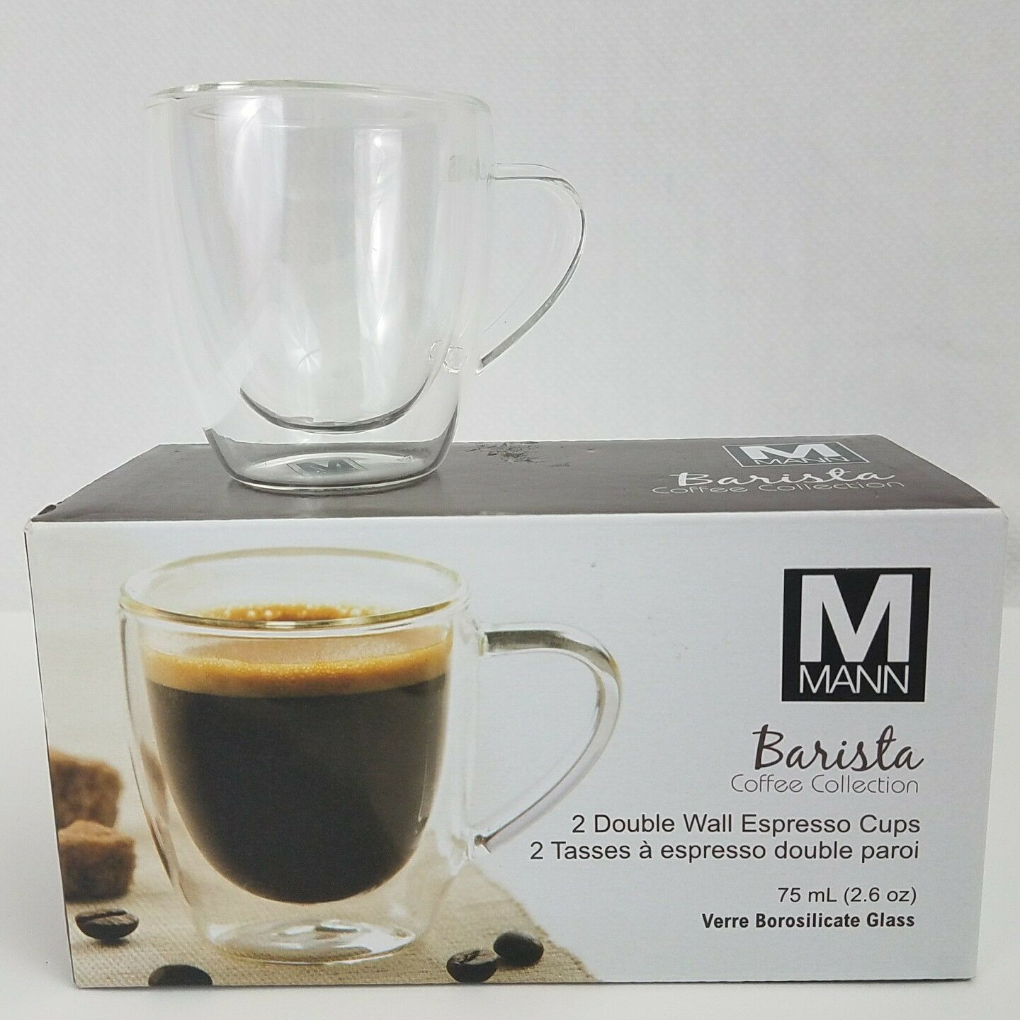 double wall espresso cups double walled norton secured powered by verisign mann barista double walled espresso cups 26 oz 75 ml ebay