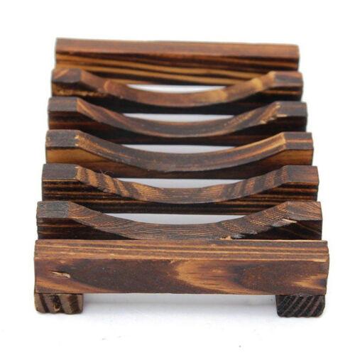 Wooden Kitchen Sponge Plate Soap Holder Shower Dish Storage Rack E99X