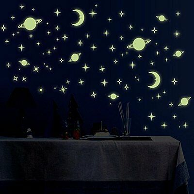 Wall Stickers Wall Decals Star Plant & Moon Glowing Wall sticker Deal