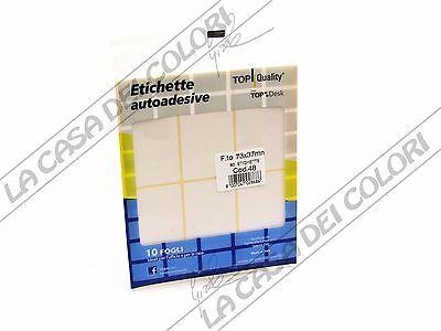 Ospitale Top Quality - Etichette Adesive - 73x37mm - 10 Fogli X 8 Etichette Cad.