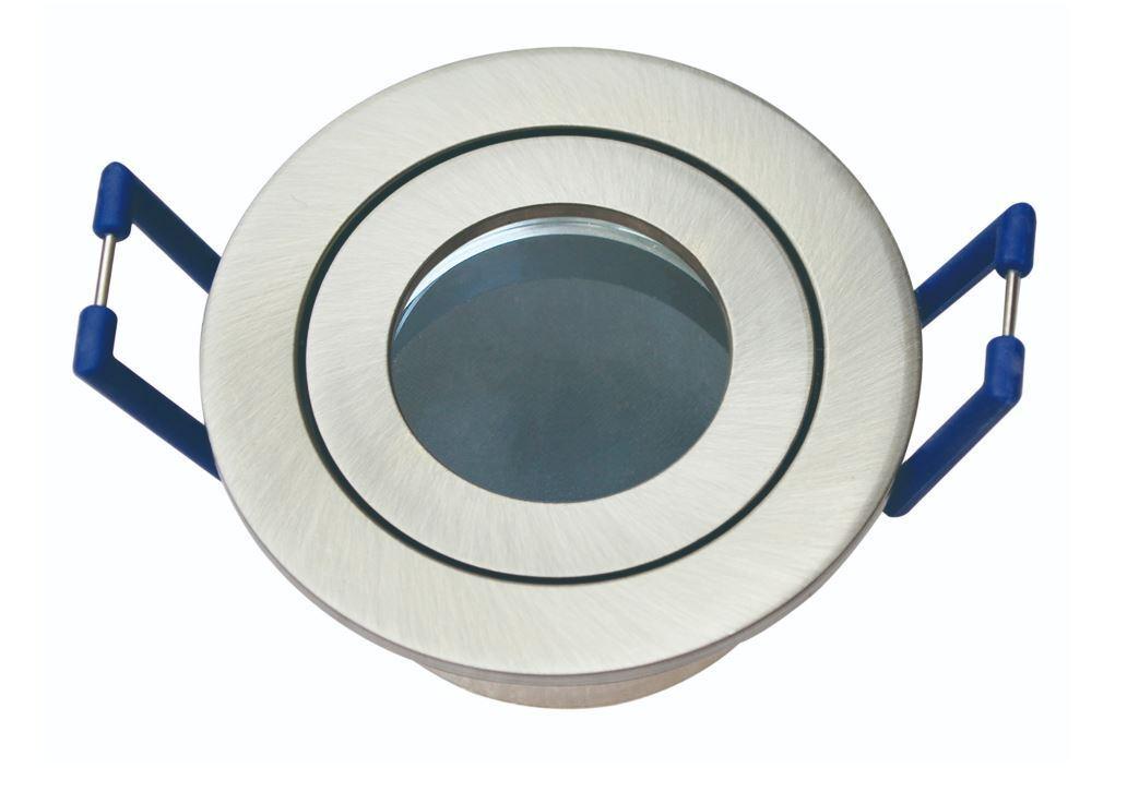 8xFeuchtraumspot Einbauleuchte Lampe eisen gebürstet für 35mm Led oder Halogen