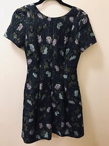 d6db718d9c2c Image is loading Anthropologie-Lyonesse-Jacquard-Textured-Dress-by-Cynthia- Rowley-