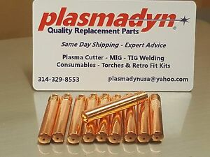 10pc 1444-0222 FP14-35 MIG Tips for Firepower FP200 /& FP260 MIG Gun torch
