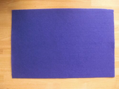Purple felt sheets 8 sheets approximately A4 in size acrylic