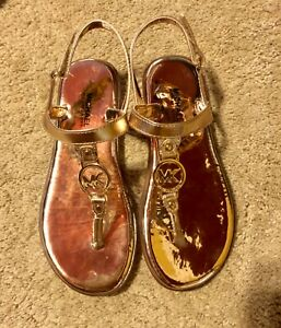 Michael Kors (MK) girls sandals- gold