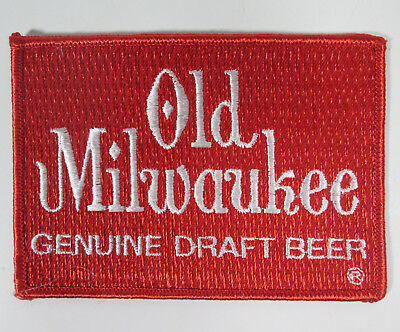 "Patch Old Milwaukee Genuine Draft Beer 4 1/4"" by 3 vintage New Old Stock NOS USA"