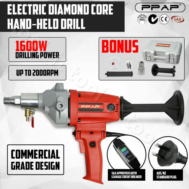"1600W Diamond Core Drill Concrete Hand-Held Machine Wet &Dry Drilling 1¼"" Nozzle"