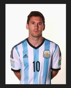 size 40 e5595 16c38 Details about official FIFA World Cup 2014 soccer jersey w/patch Lionel  Messi Argentina Adidas