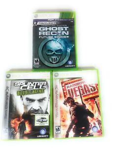 Tom-Clancy-Splinter-Cell-Rainbox-Five-Ghost-Recon-Games-Xbox-360-Lot-Bundle