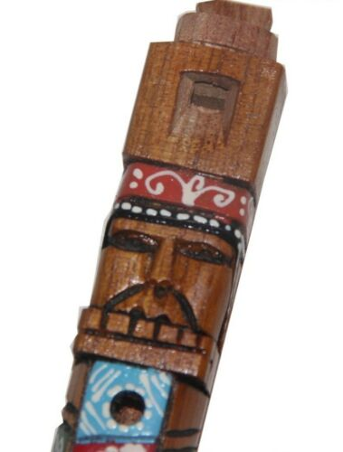 Tarka Flute Hand Carved Hand PaintedFrom PeruMusical Instrument Woodwind