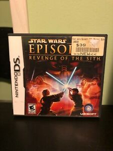 Star Wars Episode Iii Revenge Of The Sith Nintendo Ds Game Case Ships Free 3307210193810 Ebay
