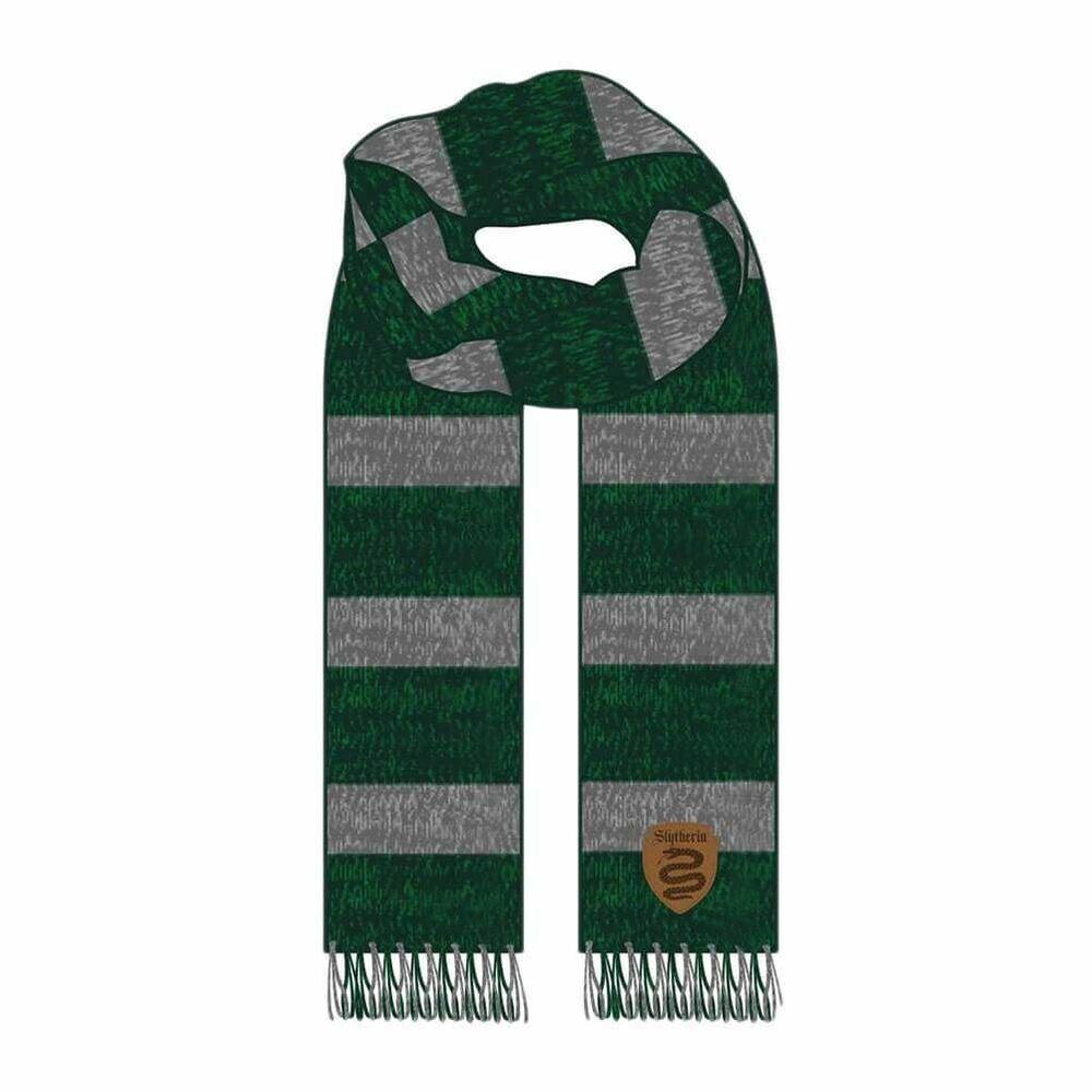 Aimable Harry Potter Slytherin House Jacquard Winter Kitted Scarf - One Size Hogwarts ImperméAble à L'Eau, RéSistant Aux Chocs Et AntimagnéTique