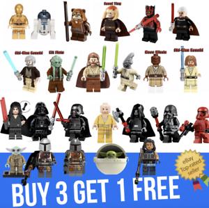 Custom-Star-Wars-mini-figures-minifigures-set-Vader-Anakin-Army-Mando-Yoda
