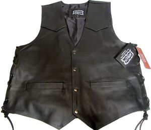 Biker Leather Cut West Originale Biker Vest 15 Halle Leather Leather rqBYra