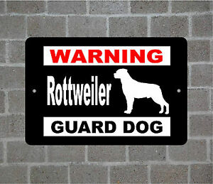 Rottweiler warning GUARD DOG breed metal aluminum sign