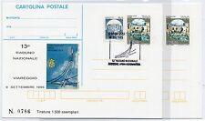 1995 REPUBBLICA IPZS 2 CARTOLINE POSTALI 13° RADUNO NAZIONALE VIAREGGIO B/7807