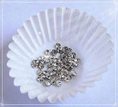 50 pz  strass cristallo lucentissimo trasparente bianco forma diamante 3mm