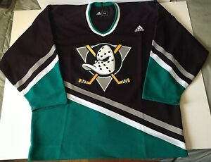 Details about Anaheim Mighty Ducks Authentic Throwback Jersey ~ Adidas (MIC)