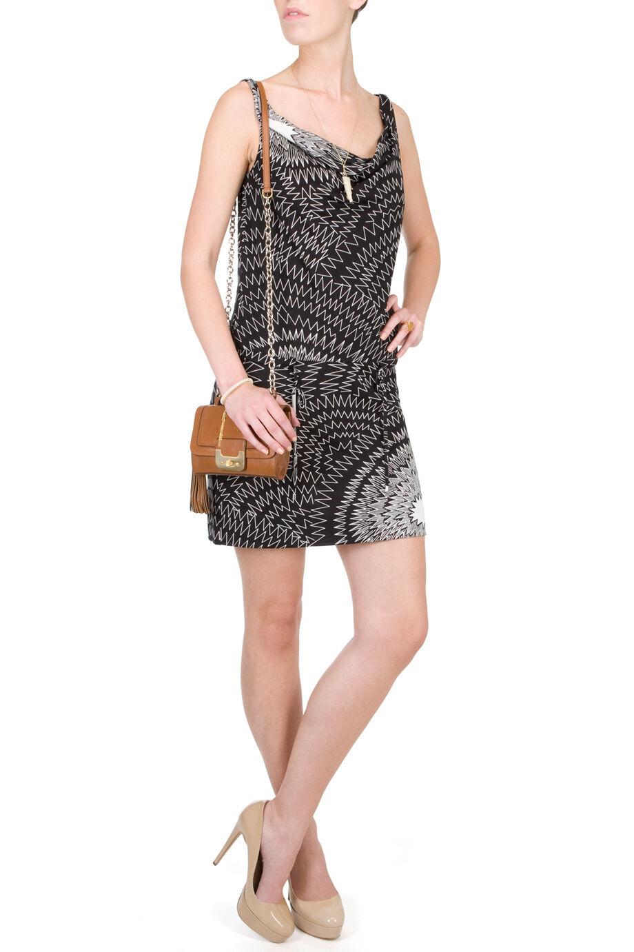 DVF Diane von Furstenberg 2 Silk Jersey Cowl Drape Neck Drawstring Tank Dress