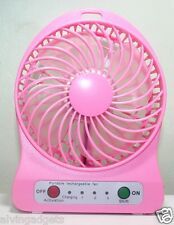 Portable Mini Rechargeable LED Light Fan With Charger Battery & USB Cable(BPink)