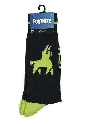fortnite crew socks 1 pair llama design fits mens size 6 12 gamer socks new ebay ebay