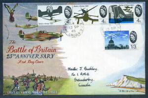 Great Britain 1965 Battle of Britain f.d.c. with R.A.F. postmark (2021/10/04#01)