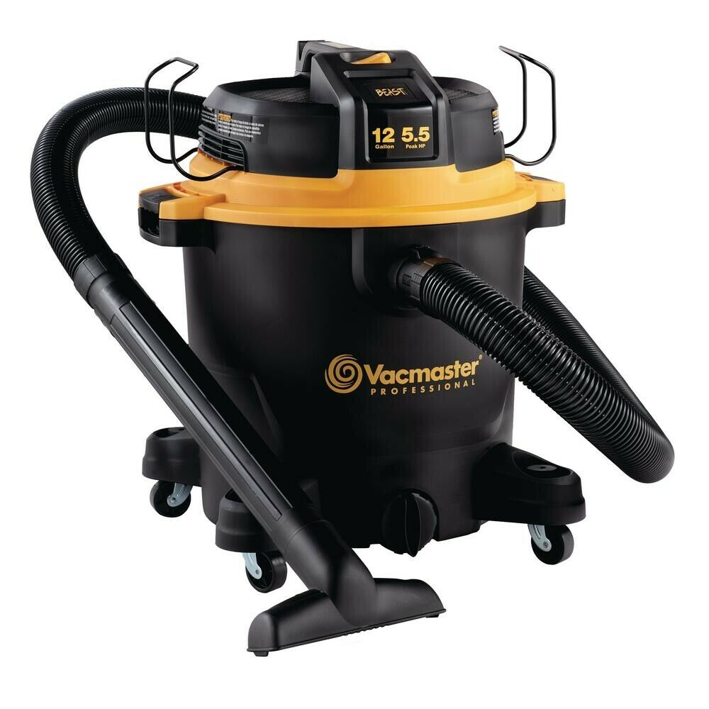 Vacmaster Beast Professional Series 12 Gallon 5.5 HP Wet Dry Vacuum Powerful NEW