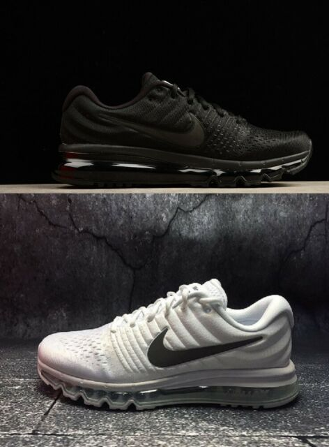 reputable site 3f1a4 da10f Nike Air Max 2017 Men' Running Training Shoes Black White SIZE 7-11