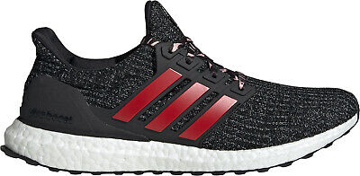 Adidas Ultra Boost 4.0 Mens Running Shoes Black Red Cushioned Trainers Sneakers Einfach Zu Reparieren