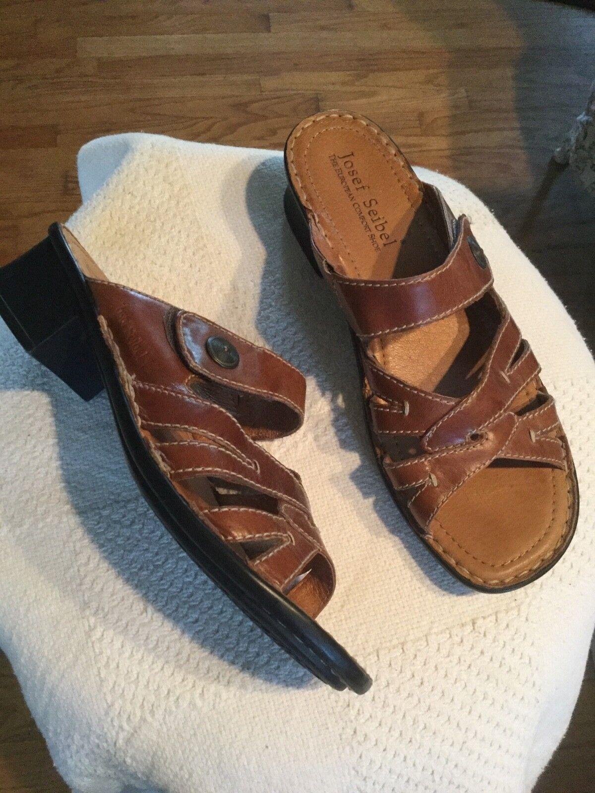 Josef Seibel Women's US10 Lorraine Slide Size EU41 US10 Women's brown Leather 032504