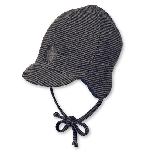 Sterntaler Baby Jungen Winter-Schirmmütze zum Binden Baumwollfleece-Innenfutter