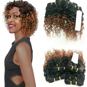 Vrai-Cheveux-Humains-Tissage-Bresilien-boucle-ombre-tissage-kinky-curly-bundles