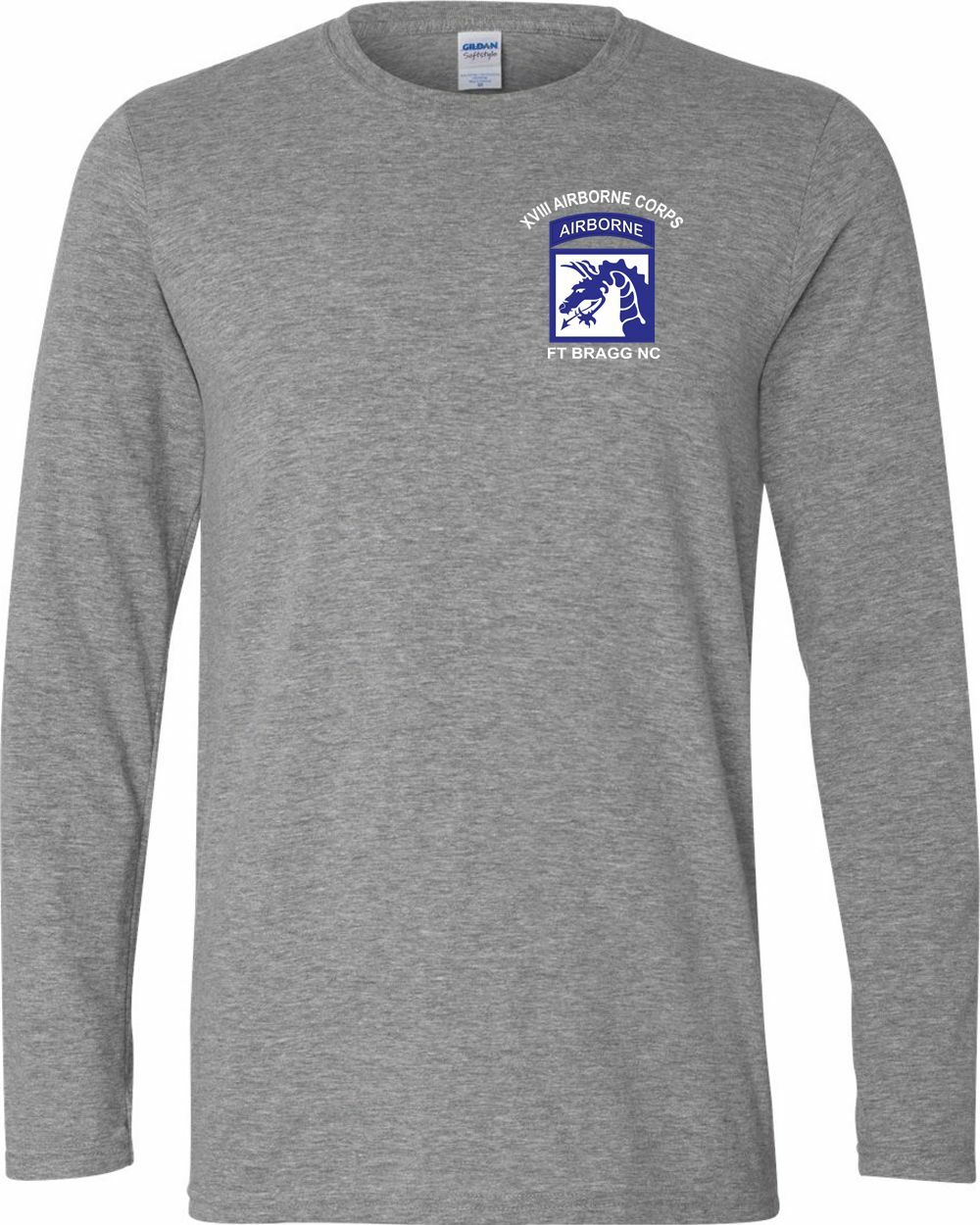18th Airborne Corps Long-Sleeve Cotton Shirt-12942