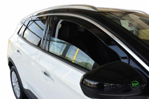 Vauxhall grandland X 2017-up viento desviadores 4pc Heko Teñido