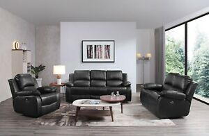 Valencia Electric Recliner, Black Or Brown Leather   3 Seaters, 2 Seaters & More