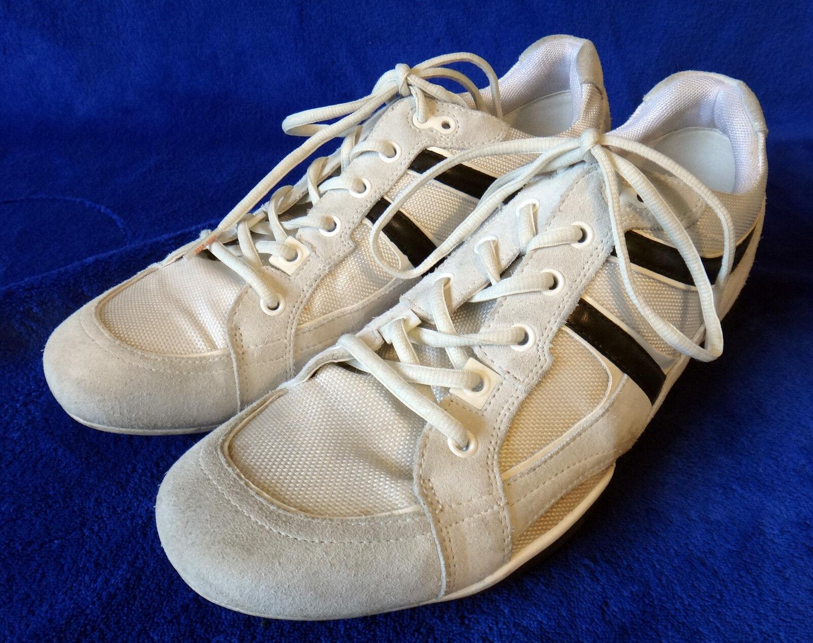 HUGO BOSS Blanc noir sneaker tennis sport Chaussures 45 12 50188671 old skool ivory