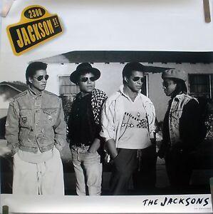 jackson 5 five jackson st 1989 vintage orig music record store promo poster ebay. Black Bedroom Furniture Sets. Home Design Ideas