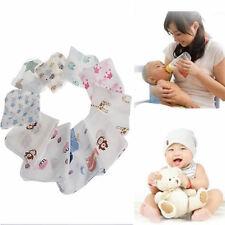 10pcs Baby Infant Towel Muslin Handkerchiefs Two Feeding Wipe Cloth 28*28cm