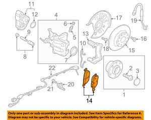 AUDI OEM 15-17 A3 Brake-Rear Pads 5Q0698451N | eBay | Audi Brakes Diagram |  | eBay