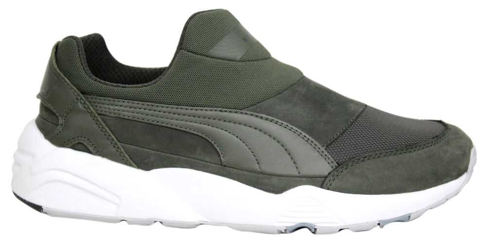 Puma Trinomic Chaussette stampd Presque comme neuf x Baskets Homme Slip On Chaussure Vert 361429 01 M16-