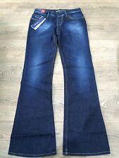 New MISS SIXTY Bootcut style Dark Blue Denim Jeans Size 27W 32L