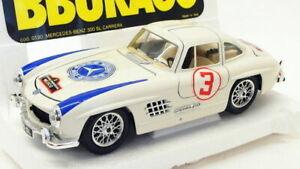 Burago-Escala-1-24-Modelo-de-Coche-3518H-Mercedes-Benz-300-SL-carrera-1954-coche-de-carreras