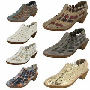 Habe Qualität Damen Schuhe Rieker Sling mit Gewebtes Detail