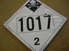 Lot Of 5 Dot Haz Mat Safety Plackard Sign Vinyl 10 34 X 10 34