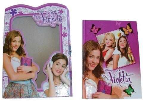 collezione nuova serie diario VIOLETTA segreto con scatola,scuola,gioco