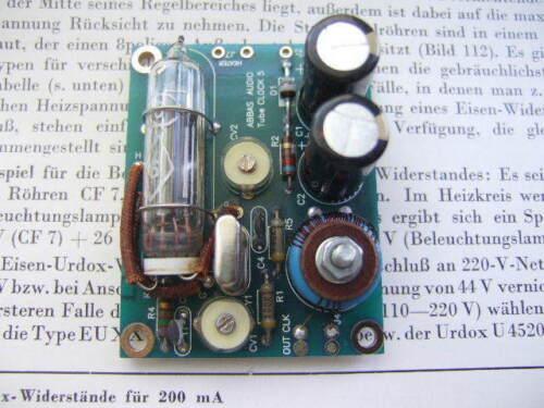 Miniature low jitter abbasaudio tube clock 4,2336Hz NEW!