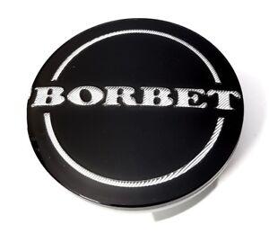 Original-Borbet-Nabendeckel-Nabenkappe-Schwarz-Glanz-Silber-Center-Cap-NEU-55mm