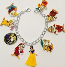 Snow White and the Seven Dwarfs Bracelet Handmade Plastic Charms 7 inch Disney