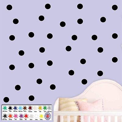 Polka Dot Wall Stickers Decal Childs Kids Vinyl Art Decor Spots WA