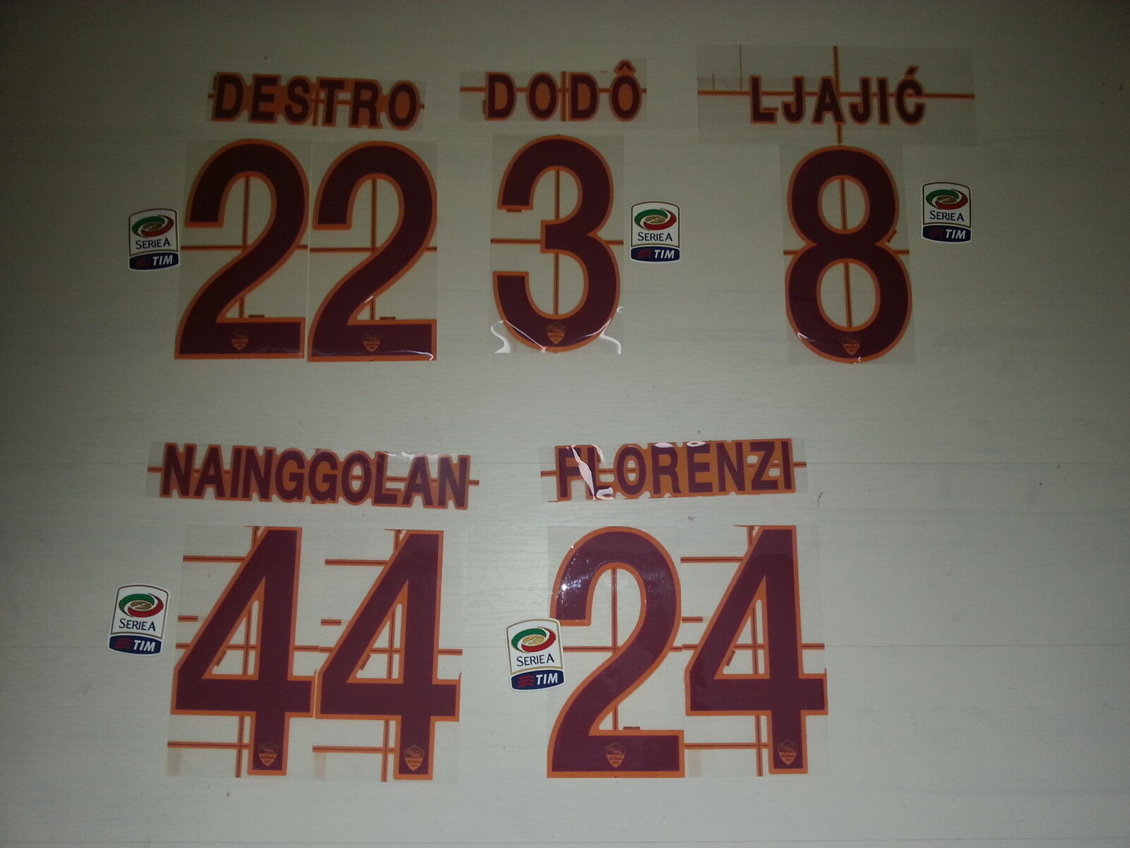 2688 ROMA NAME SET NAME NAME SET UND ANZAHL ROMA TRIKOT JERSEY 2013 2014 CUSTOMIZATION bd0263